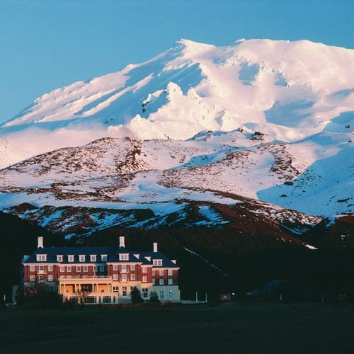 Chateau Tongariro Mount Rapehu New Zealand.