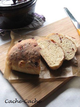 Cache-Cache+ : staubで焼いた 玄米&クランベリーパンと 野菜スープ