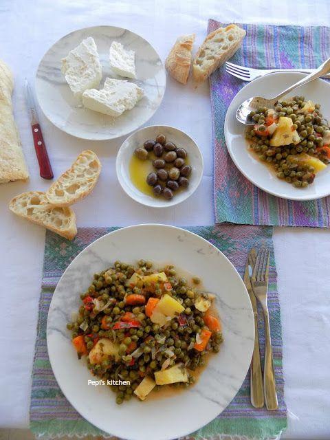 Arakas Laderos (Greek style Peas) http://pepiskitcheninenglish.blogspot.gr/2016/10/arakas-laderos-greek-style-peas.html
