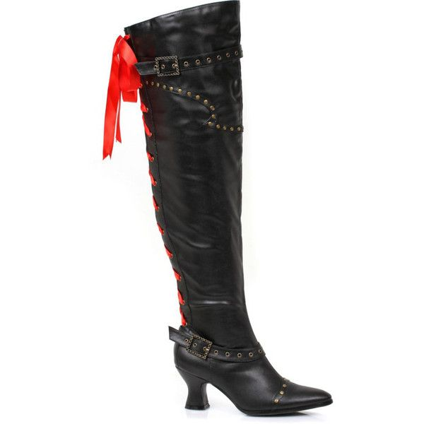 Deluxe Pirate Boot for Women ($80) ❤ liked on Polyvore featuring costumes, halloween costumes, multicolor, deluxe halloween costumes, sexy costumes, deluxe pirate costume, womens halloween costumes and ladies pirate costume