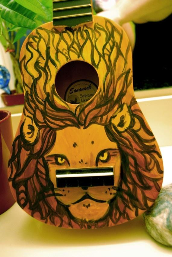 My friend hand-paints these ukuleles!