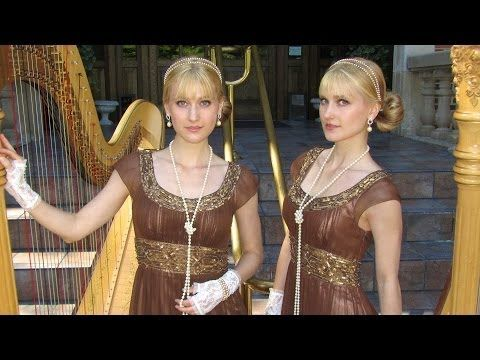 GIRLS JUST WANNA HAVE FUN - Cyndi Lauper (Harp Twins) Camille and Kennerly - YouTube