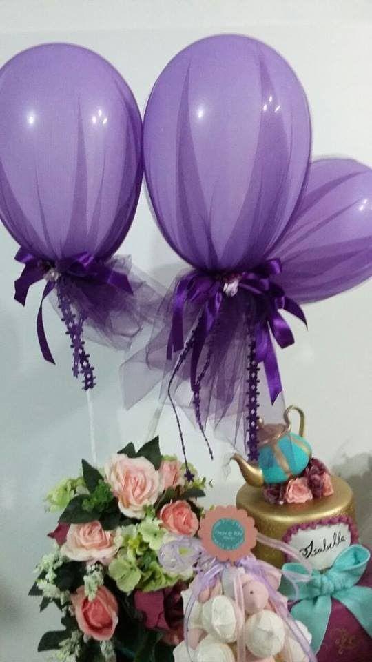 DIY: Ideias para festa Infantil  vídeo 2: Decoração de Balões com tule