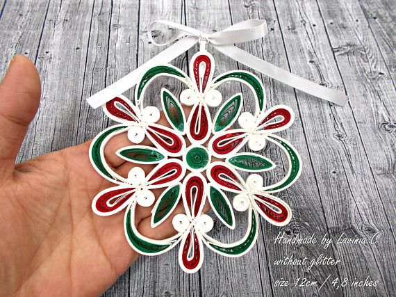 Christmas decoration-quilled paper-paper quilling-Christmas