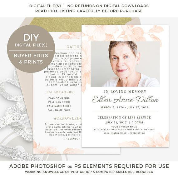 29 best Funeral\/Memorial Programs Templates images on Pinterest - free obituary template
