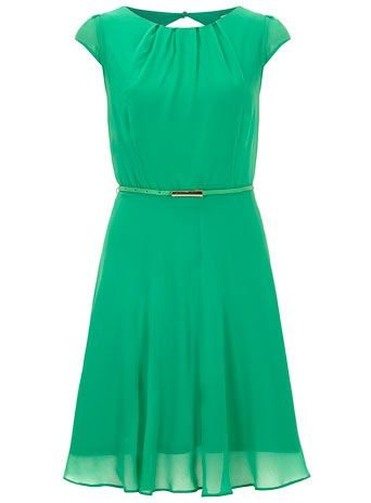 Billie and Blossom Green chiffon dress