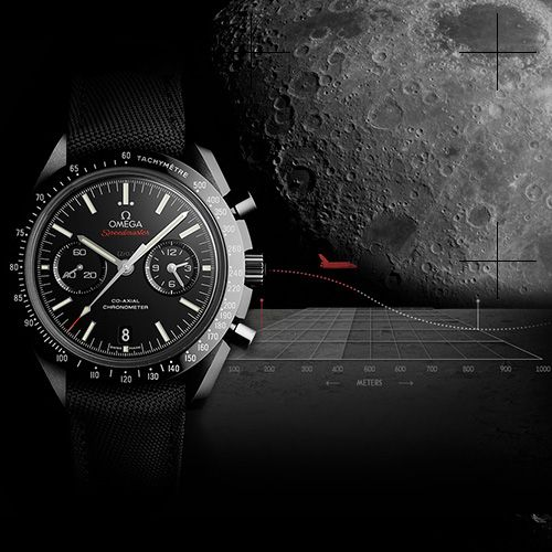 """The Apollo 8 astronauts were the first people to see the dark side of the moon with their own eyes. The black ceramic Co-Axial Speedmaster salutes their pioneering spirit and pays homage to the Speedmaster Professional chronographs worn by every Apollo astronaut OMEGA Speedmaster Moonwatch Co-Axial Chronograph """"Dark Side of the Moon"""" (See more at:http://watchmobile7.com/articles/omega-speedmaster-moonwatch-co-axial-chronograph-dark-side-moon) (2/9) #watches #omega @Omega Hedgepeth Hedgepeth…"""