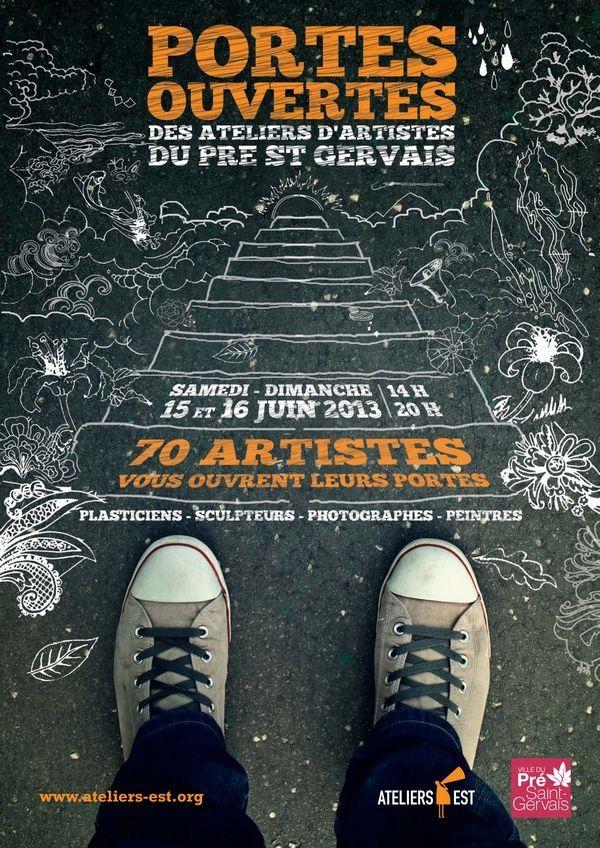 Portes ouvertes d'ateliers d'artistes du Pré Saint-Gervais - Ateliers Est
