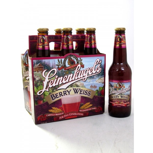 Leinenkugel's Berry Weiss Beer... another good beer for fruity beer punch drink.  Love the slight pink tone.