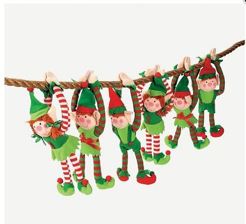 Amazon.com: 12 - DELUXE PLUSH HANGING CHRISTMAS ELFS - TREE DECORATIONS - HOLIDAY STOCKING STUFFERS: Toys & Games