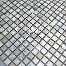 Glasmosaik Edelstahlmosaik Mosaik Metall Metalleffekt Fliese silber Dusche kaufen bei Hood.de