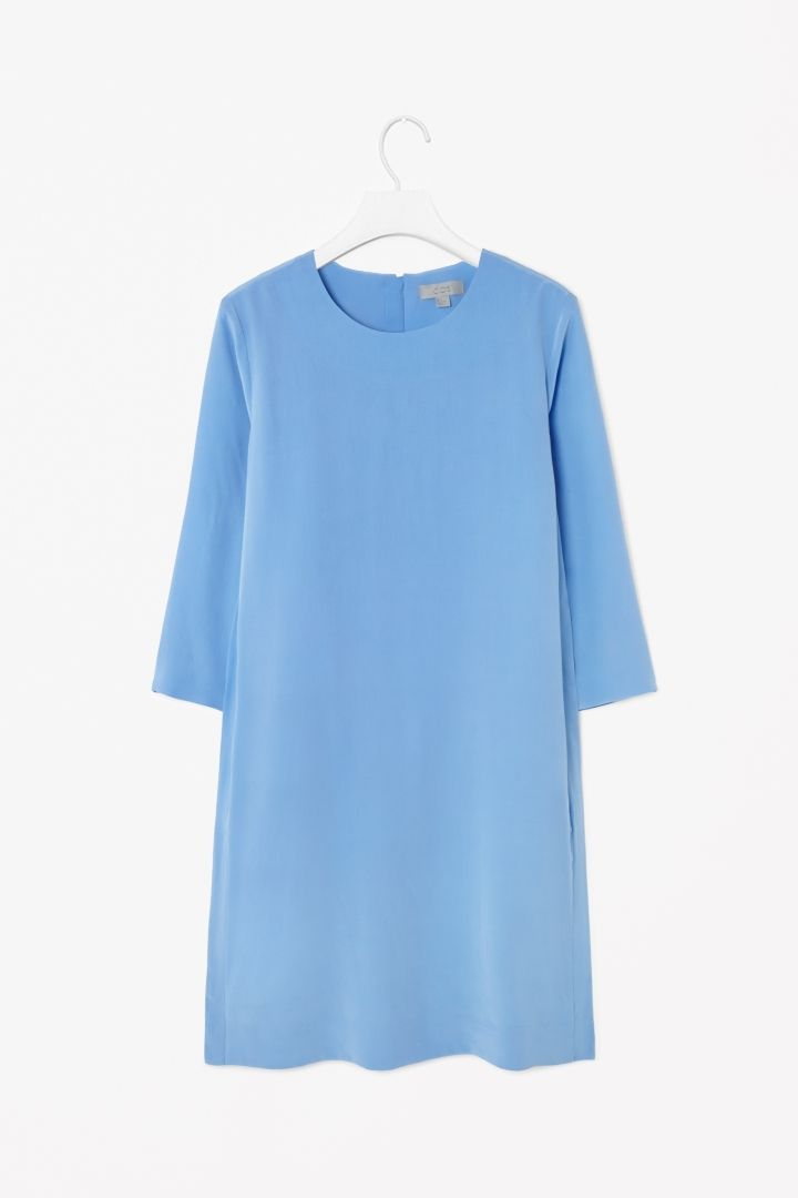 Round-neck silk dress