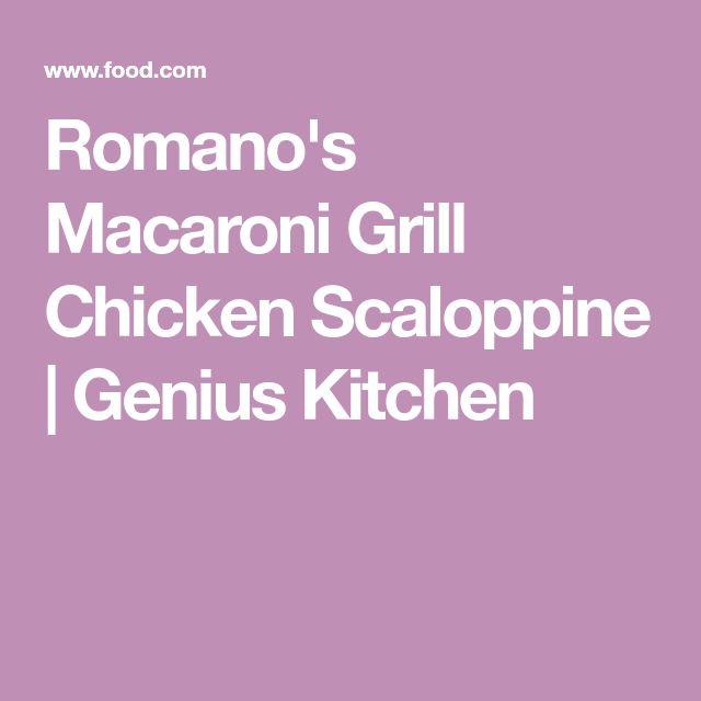 Romano's Macaroni Grill Chicken Scaloppine | Genius Kitchen