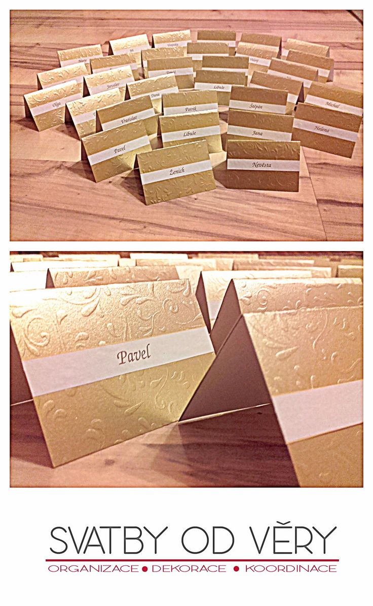 Wedding name card (gold)