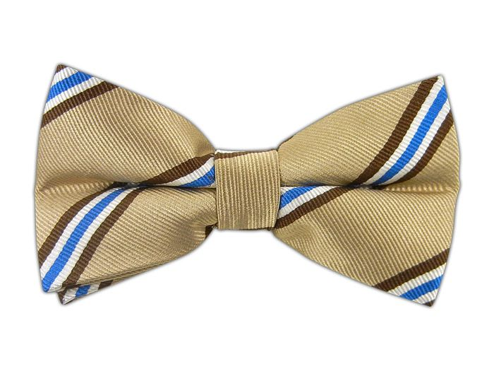 Pulsar Stripe - Light Champagne (Bow Ties) - Pulsar Stripe - Light Champagne (Bow Ties)