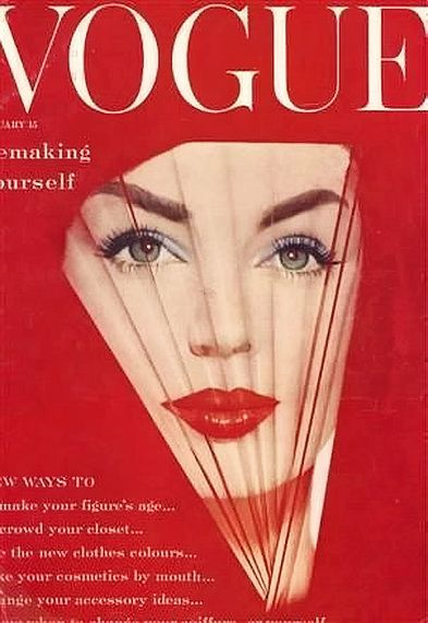 Vogue January 1959, cover by William Bell