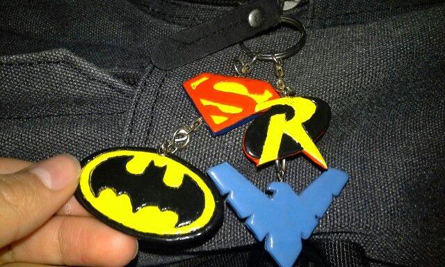 Llaveros heroes DC - Batman, Superman, Robin, Nightwing #DCcomics