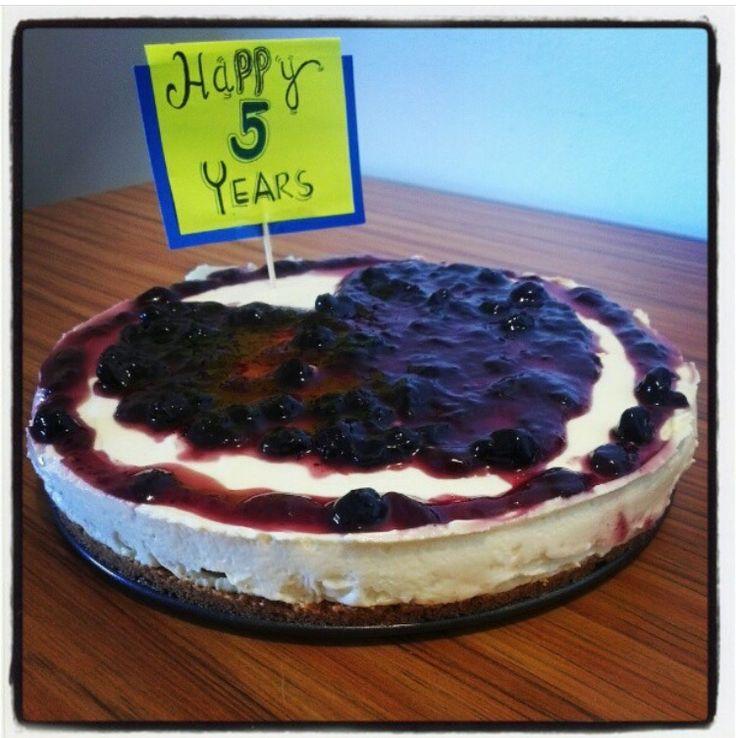 5th aniv cake