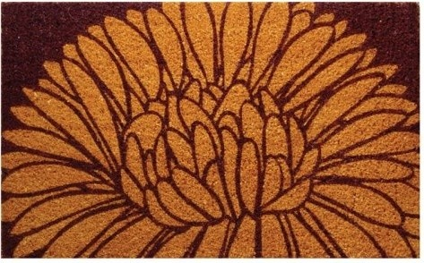 Mums themed doormat for the Fall.