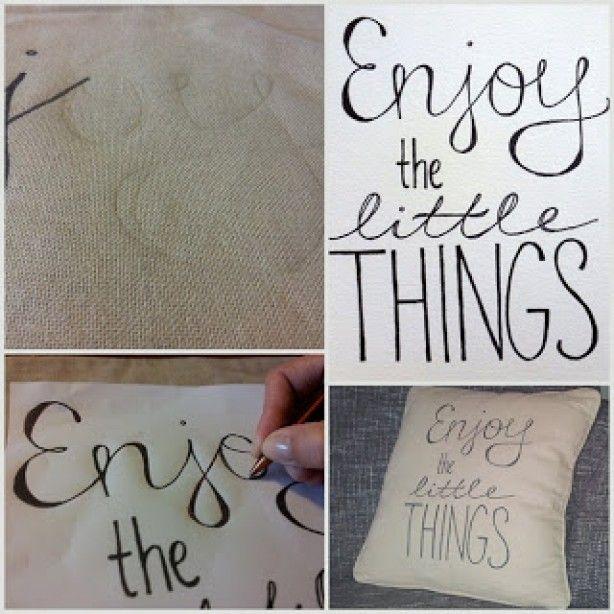 Met textielstift... (overtrekken met carbonpapier??)