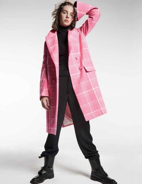 Maya Thurman Hawke in a Fendi Resort 2018 coat. Photographed by Alan Gelati for Tatler UK.