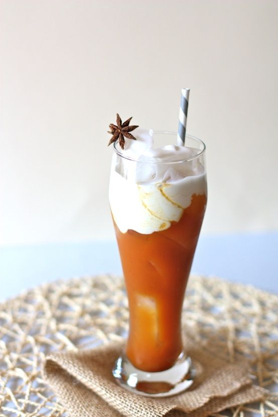 Thai Ice Tea - ngredients: 1 whole star anise 2 cardamom pods 5 cups ...