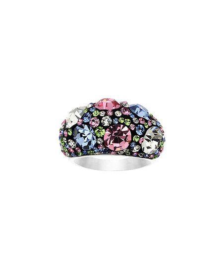 Brilliance by Jayden Star Blue & Pink Round-Cut Ring With Swarovski® Crystals | zulily