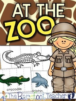 Zoo Picture Puzzles - Black/White & Colorful   These zoo themed 5 piece picture puzzles are the perfect addition to your zoo or animal theme. Use as a fast finisher or center activity.
