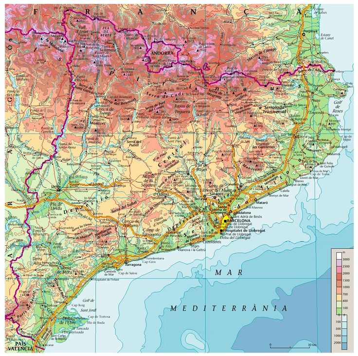 Mapa De Catalunya Provincies.Mapa Catalunya Amb Les Provincies