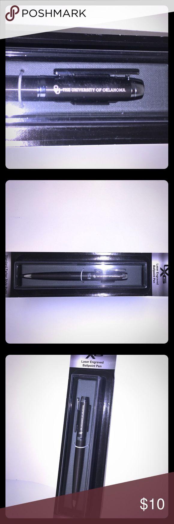 The University of Oklahoma Laser Engraved Pen Oklahoma Sooners laser engraved ballpoint pen. Accessories