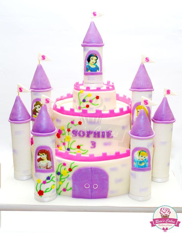 Torta castillo de princesas, #castle #fondant #cake