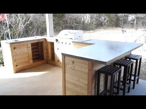 diy modern outdoor kitchen and bar modern builds ep 22 youtube