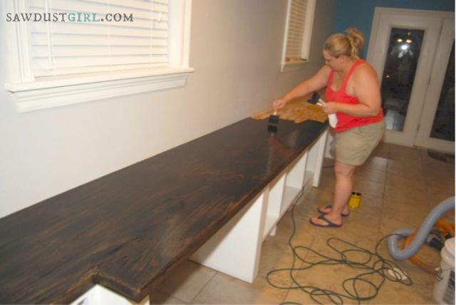 Oak Plywood Countertops-Cara's Office-6