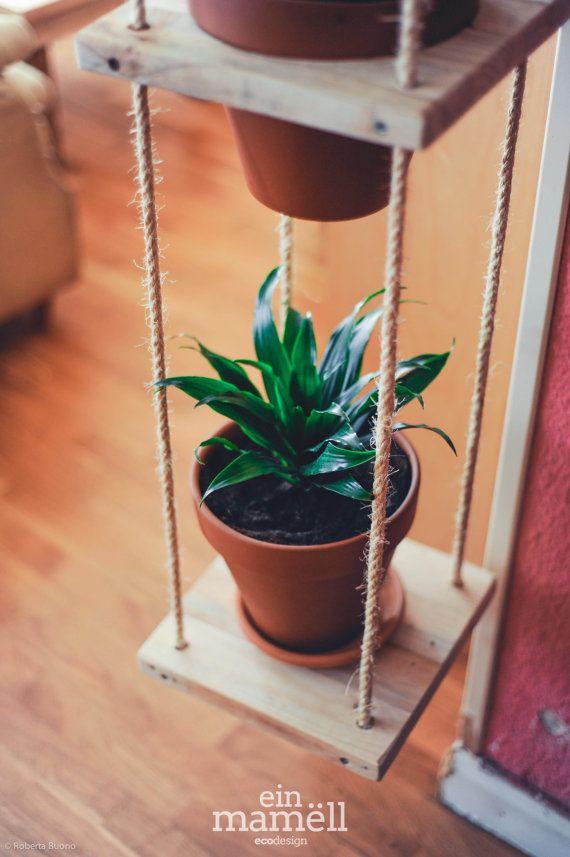 17 mejores ideas sobre macetas colgantes en pinterest for Decoracion con madera reciclada