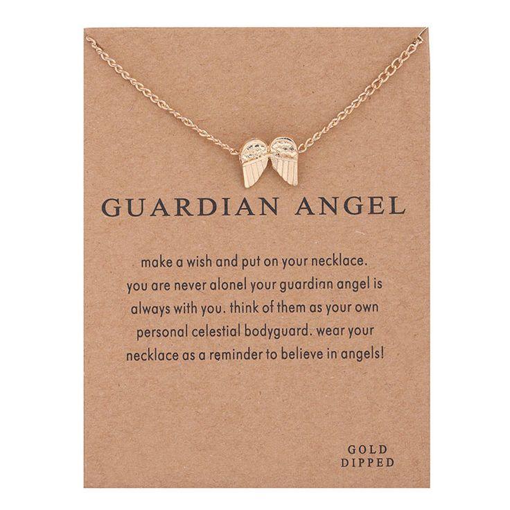 Горячие Продажи ангел-хранитель, крылья ангела ожерелье позолоченный Кулон ожерелье Ключицы Цепи Себе Ожерелье Женщины Ювелирные Изделия
