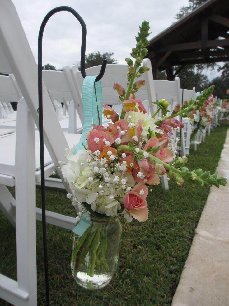 Side view - hanging mason jar   Wedding {DIY Ideas ...