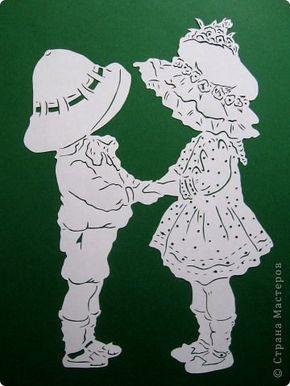Картина панно рисунок Валентинов день Вырезание Валентинка Бумага фото 2