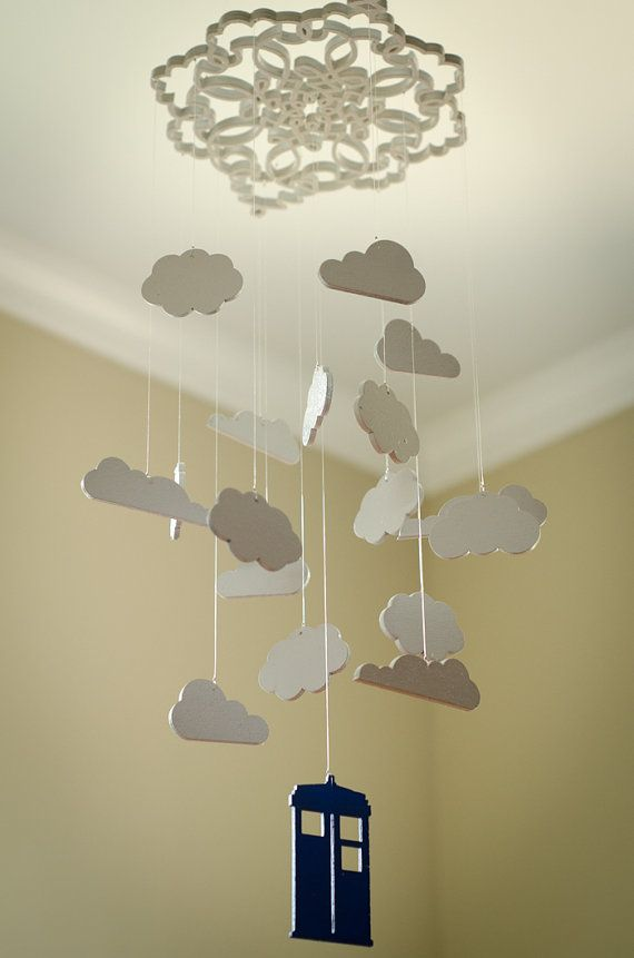 Doctor Who inspired Cloud mobile by LittleWrensNursery on Etsy, $60.00