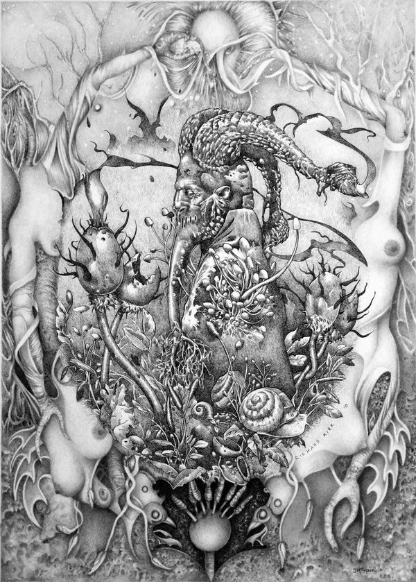 """This is an open collaboration between artists Janelle McKain and Richard A. Kirk titled """"Garden of Shadows"""""""