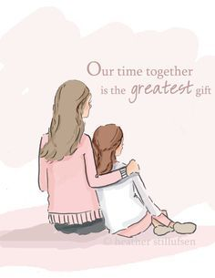 zondag 10 januari #2016 #RoseHillDesign #HeatherStillufsen ***Time Together Mother Daughter Art Mom by RoseHillDesignStudio