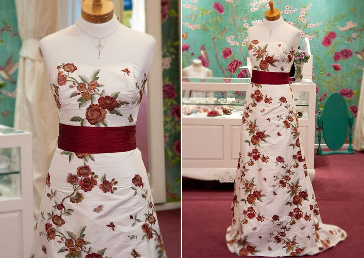 I love hearing the comments from people passing The Store and spotting this Butterfly Garden Dress from Sophie Voon Bridal