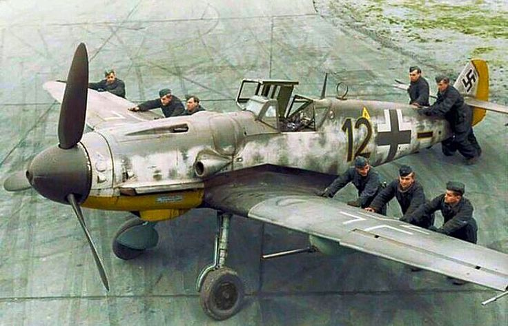 German Luftwaffe Bf-109G-6 Messerschmitt.