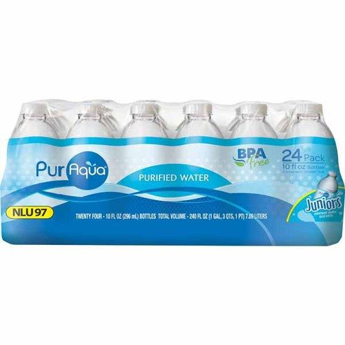 Aldi purified water - small bottles.