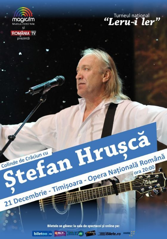 Luni, 21 Decembrie 2015, ora 20:00, Opera Nationala Romana Sala Mare, Timisoara