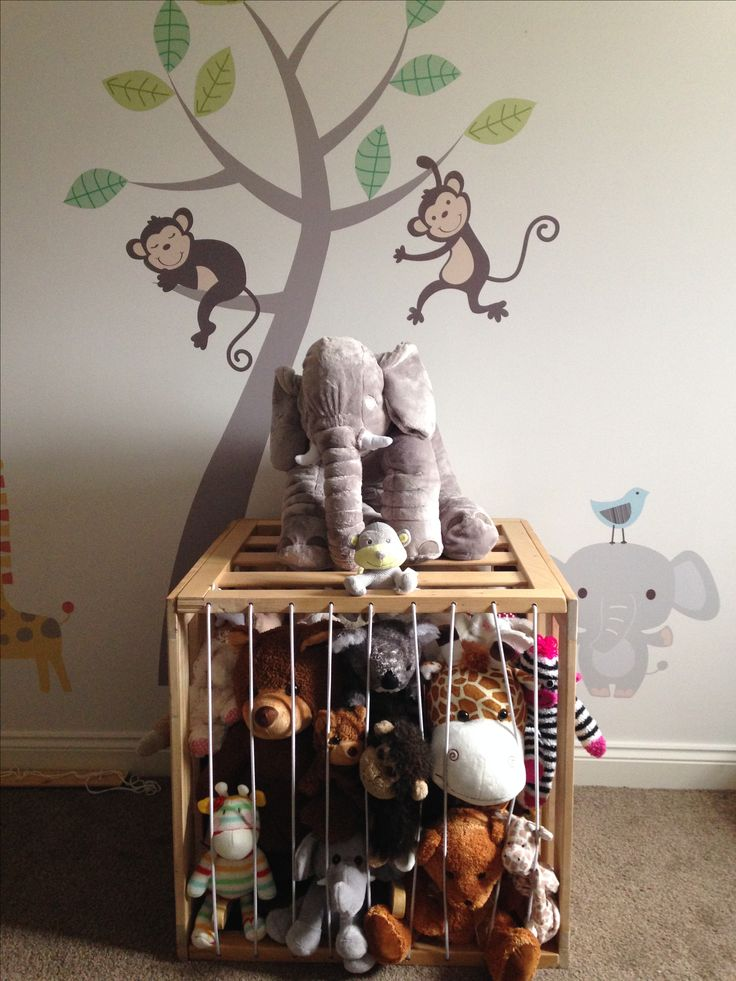 Cage for cuddly toy animals!