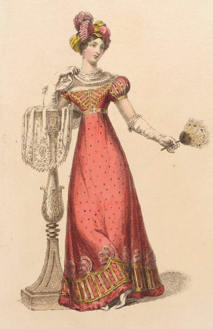 Fashion Plate (Full Dress), Rudolph Ackermann (England, London, 1764-1834): 1 December 1823, English, hand-coloured engraving on paper.