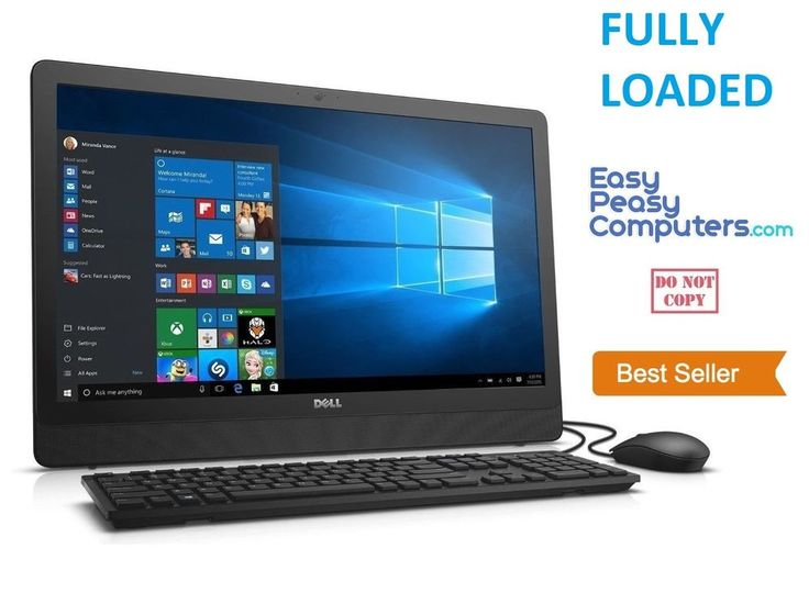 """NEW DELL All in One 19.5"""" Computer Windows 10 WIFI DVD+RW Webcam (FULLY LOADED) #Dell"""