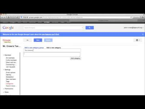 ▶ Using Google Groups to Create Web Forum at No Cost - YouTube