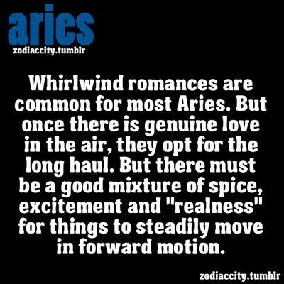 Aries Romance, Aries Love