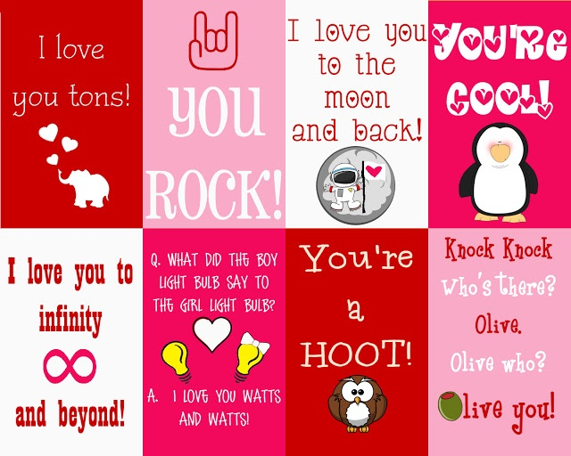 FREE Valentine's Day lunch box notes   (large collection to choose from)
